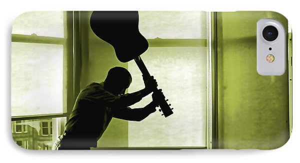 IPhone Case featuring the photograph Smashing Up A Guitar by Craig B