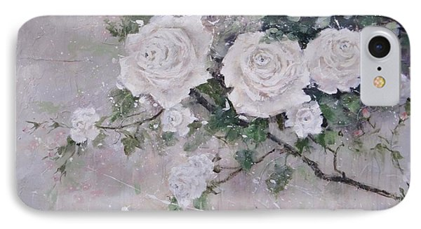 IPhone Case featuring the painting Smell The Roses  by Laura Lee Zanghetti