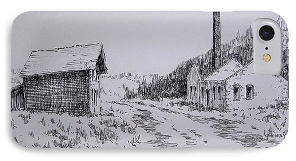 Smelter Ruins Glendale Ghost Town Montana Phone Case by Kevin Heaney