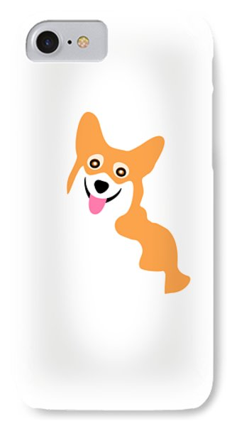 Smiling Corgi Pup IPhone Case