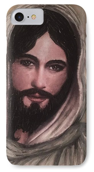 Smiling Jesus Phone Case by Cena Caterine