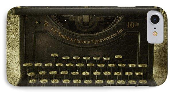 Smith And Corona Typewriter IPhone Case