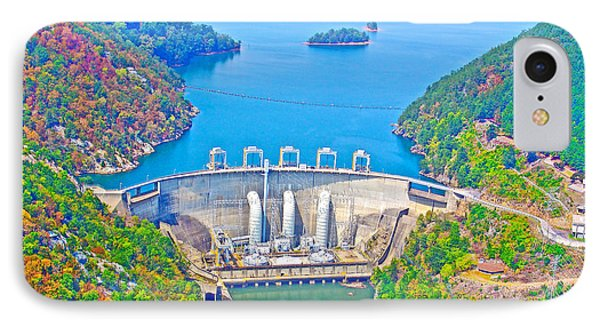Smith Mountain Lake Dam IPhone Case by The American Shutterbug Society