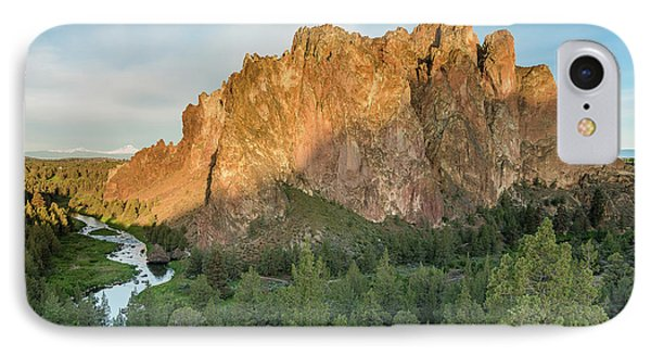Smith Rock First Light IPhone Case by Greg Nyquist