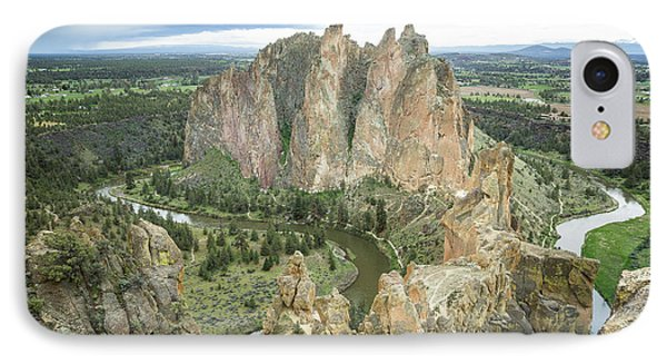 Smith Rock From Misery Ridge IPhone Case
