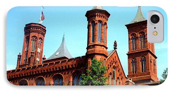 Smithsonian Castle 1 IPhone Case by Randall Weidner