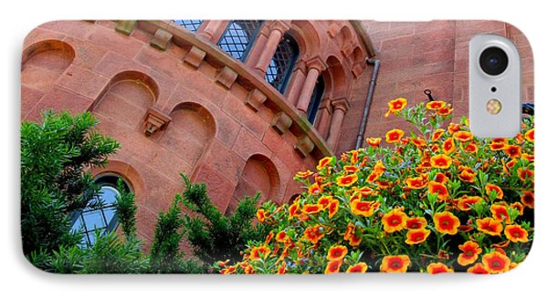 Smithsonian Castle 2 IPhone Case by Randall Weidner