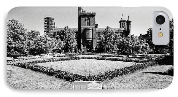 smithsonian institution building castle and parterre garden Washington DC USA IPhone Case