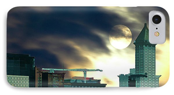 IPhone Case featuring the photograph Smithtower Moon by Dale Stillman
