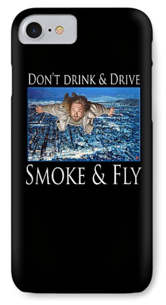IPhone Case featuring the painting Smoke And Fly by Tom Roderick