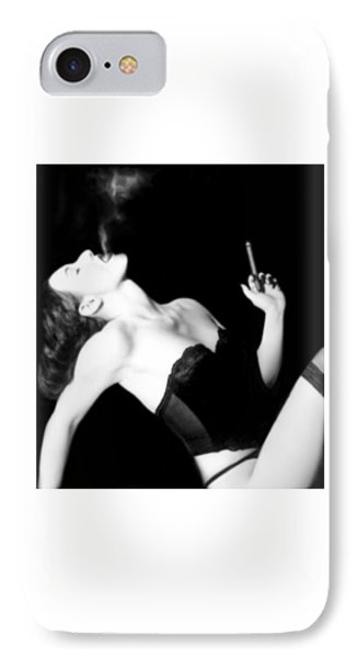 Smoke And Seduction - Self Portrait IPhone Case by Jaeda DeWalt