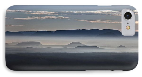 IPhone Case featuring the photograph Smoke From Wildfires After Sunrise In The Verde Valley by Ron Chilston