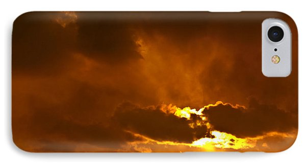 Smoke On The Horizon Phone Case by DigiArt Diaries by Vicky B Fuller
