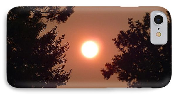 IPhone Case featuring the photograph Smoke Shrouded Sun   by Will Borden