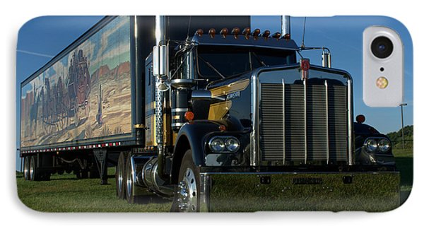 IPhone Case featuring the photograph Smokey And The Bandit Tribute Semi Truck by Tim McCullough