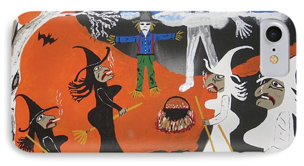 IPhone Case featuring the painting Smokey Halloween by Jeffrey Koss
