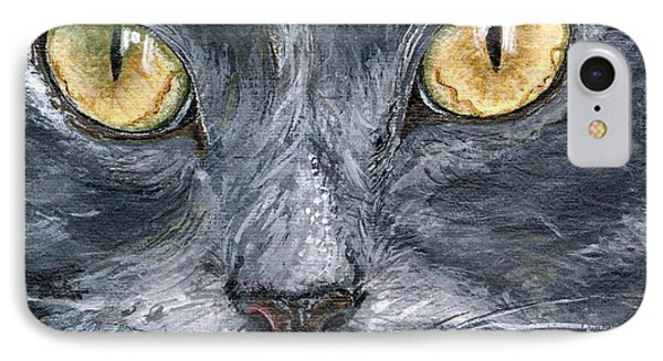IPhone Case featuring the painting Smokey by Mary-Lee Sanders