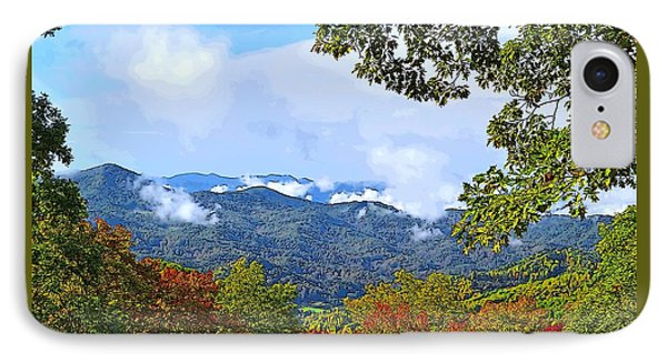 Smokey Mountain Mountain Landscape - A IPhone Case by James Fowler