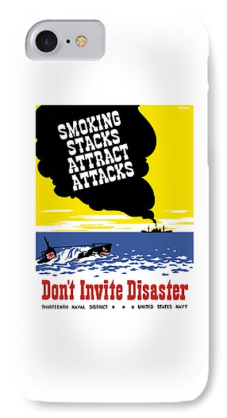 Smoking Stacks Attract Attacks IPhone Case by War Is Hell Store