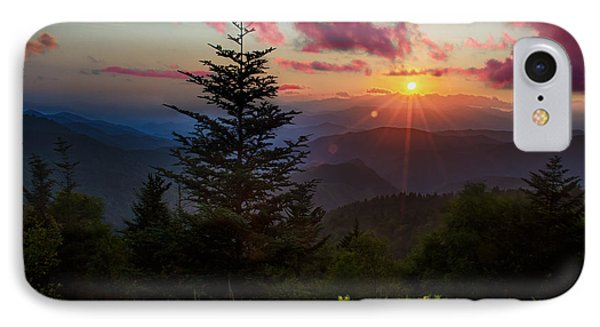 Smoky Mountain Sunset Phone Case by Christopher Mobley