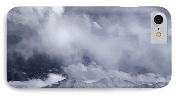 Smoky Mountain Vista In B And W Phone Case by Steve Gadomski