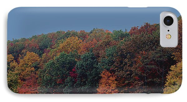 Smoky Mountains In Autumn Phone Case by DigiArt Diaries by Vicky B Fuller