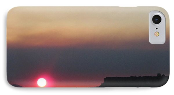 IPhone Case featuring the photograph Smoky Sunset Near Table Rock by Marie Neder