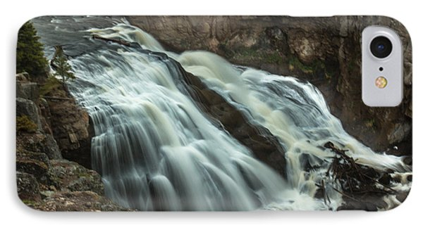 Smooth Water Of Gibbon Falls IPhone Case by Robert Bales