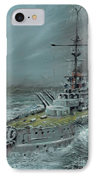 Sms Friedrich Der Grosse At Jutland 1916 IPhone Case