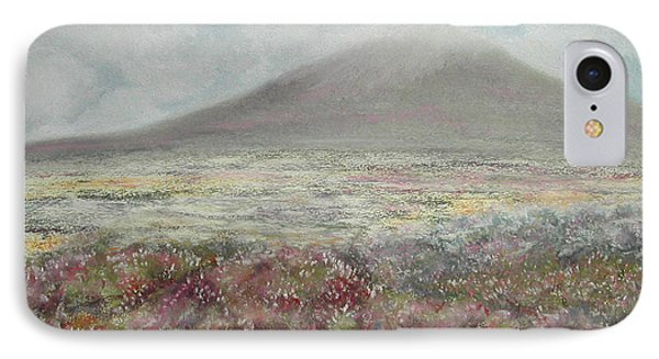 IPhone Case featuring the painting Snaefell Heather by Stanza Widen