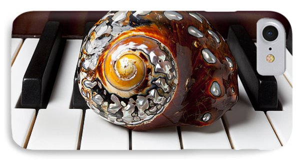 Snail Shell On Keys IPhone Case by Garry Gay