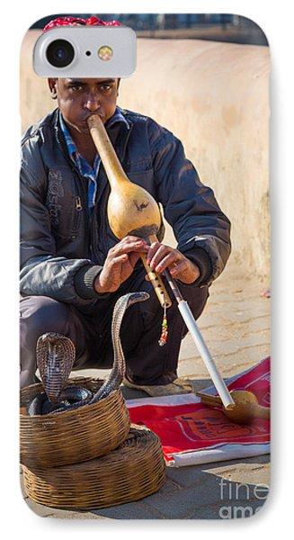 Snake Charmer IPhone 7 Case by Inge Johnsson