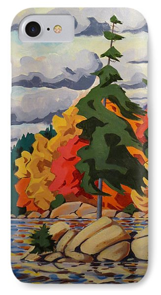 Snake Island In Fall-close IPhone Case by David Gilmore