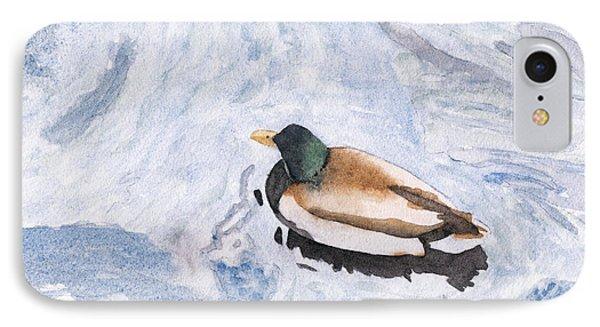 Snake Lake Duck Sketch Phone Case by Ken Powers