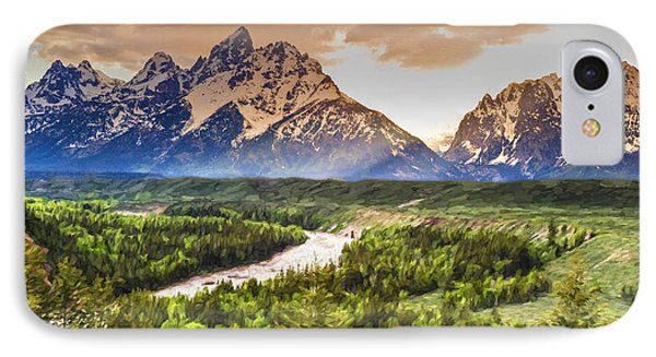 Snake River And The Grand Tetons IPhone Case