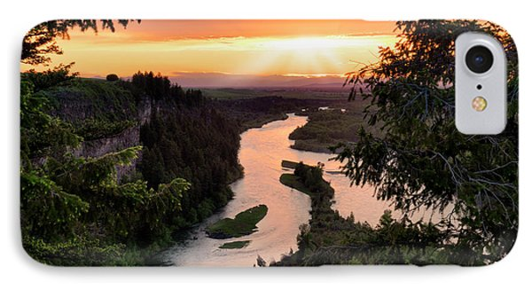 Snake River Sunset IPhone Case by Leland D Howard