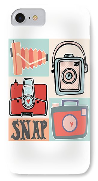 Snap - Vintage Cameras IPhone Case