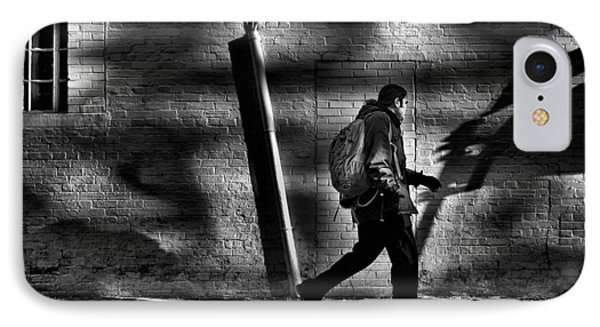 IPhone Case featuring the photograph Sneakin' Thru The Alley by Brian Carson