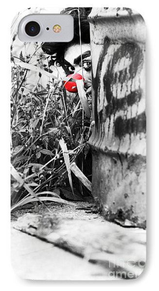 Sneaky The Clown IPhone Case by Jorgo Photography - Wall Art Gallery