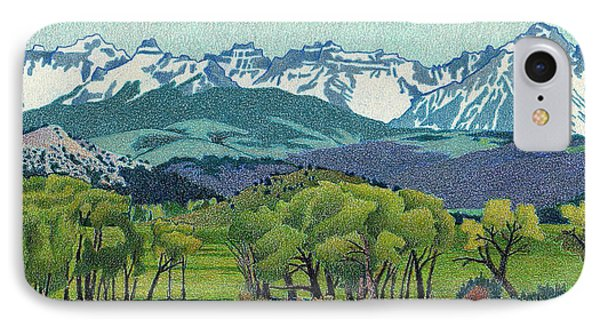 Sneffels Range Spring IPhone Case by Dan Miller