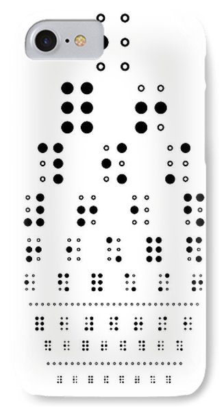 Snellen Chart - Braille Phone Case by Martin Krzywinski