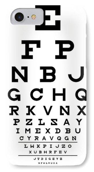 Snellen Chart - Full Alphabet Phone Case by Martin Krzywinski