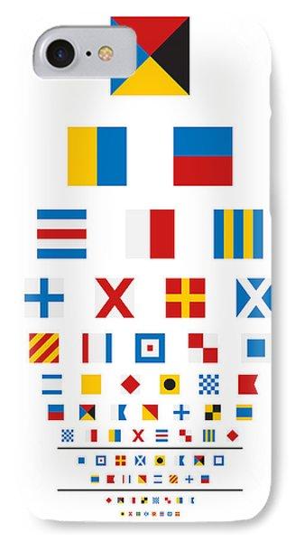 Snellen Chart - Nautical Flags Phone Case by Martin Krzywinski