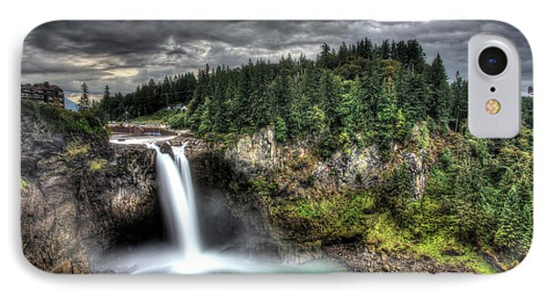 Snoqualmie Falls Storm IPhone Case by Shawn Everhart