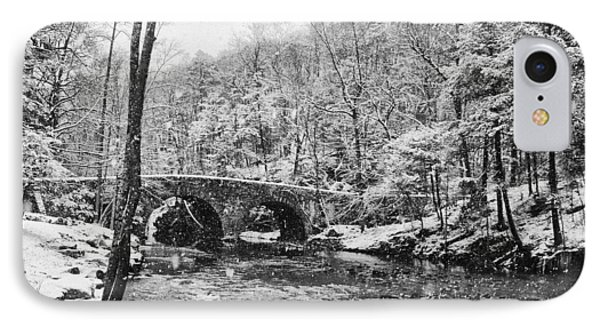 Snow Along The Wissahickon Creek Phone Case by Bill Cannon