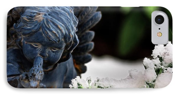 IPhone Case featuring the photograph Snow Angel Whisperer by Shelley Neff