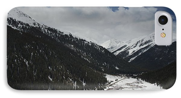 Snow At Independence Pass Colorado Highway 82 IPhone Case