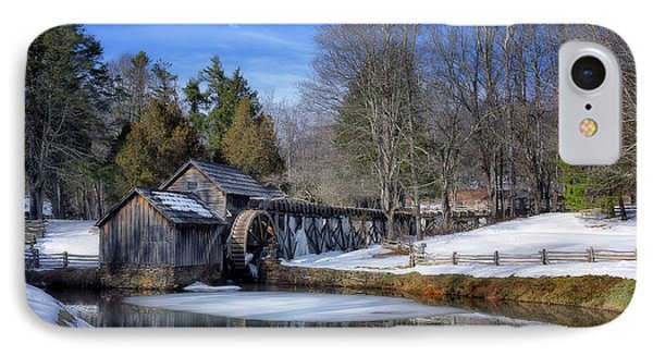 Snow At Mabry Mill IPhone Case by Steve Hurt