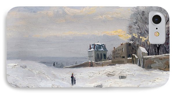 Snow At Montmartre Phone Case by Hippolyte Camille Delpy