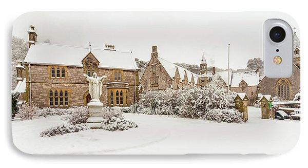 Snow At Pantasaph Friary IPhone Case by Adrian Evans